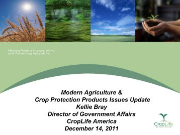 Modern Agriculture and Crop Protection Products Issues Update ...