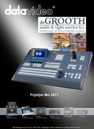 Cover pricelist May 2011.indd - de Grooth Audio Service