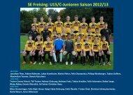 SE Freising: U15/C-Junioren Saison 2012/13 - jfgwittelsbacherland.de
