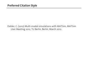 Christoph Dobler - MATSim