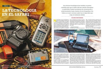 LA TECNOLOGIA EN EL SAFARI - Executive Safari Consultants