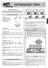 ASTRORAGGI TWIN 24V 150W - Clay Paky