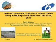 Integrated assessment of agricultural land use policies reducing ...