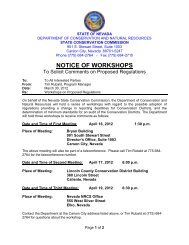 notice of workshops - The Nevada Department of Conservation and ...