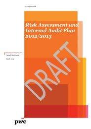 Risk Assessment and Internal Audit Plan 2012/2013 - Oxford City ...