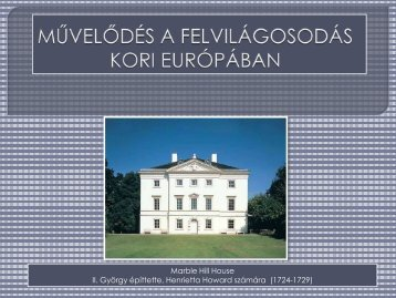 Művelődés a felvilágosodás kori Európában - Dr. Fehér Katalin