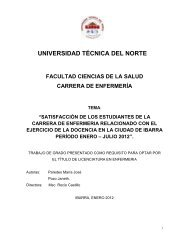 universidad técnica del norte facultad ciencias de ... - Repositorio UTN