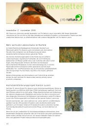 Newsletter 2-2010 - Pro Natura Luzern