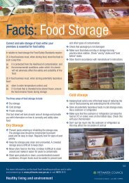 Facts: Food Storage