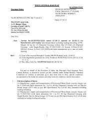 1 WEST CENTRAL RAILWAY Purchase Order HEAD QUARTER ...
