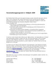 Veranstaltungsprogramm 2. Halbjahr 2009 - Bibliothek der Friedrich ...
