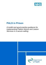 PALS in Prison - Offender Health Research Network