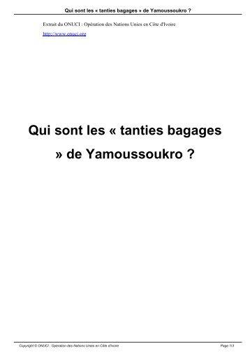 Qui sont les « tanties bagages » de Yamoussoukro ? - Onuci