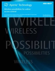 Aperio Wireless Technology Brochure.pdf - Access Control ...