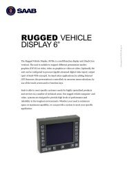 "RUGGED VEHICLE DISPLAY 6"" - Saab"