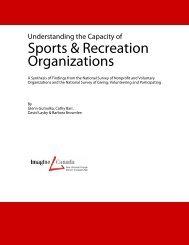 Sports & Recreation Organizations - Sector Source - Imagine Canada