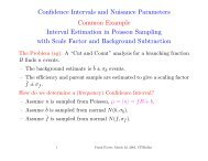 Confidence Intervals and Nuisance Parameters Common Example ...