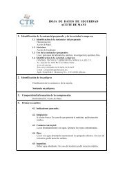 Aceite de Maní MSDS - CTR Scientific