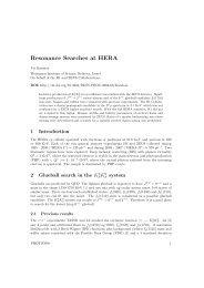 Resonance Searches at HERA - Desy