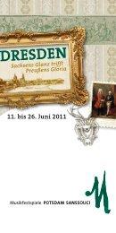 11. bis 26. Juni 2011 - Musikfestspiele Potsdam Sanssouci