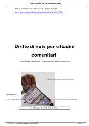 Diritto di voto per cittadini comunitari - Comune di Cinisello Balsamo
