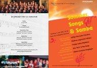 Programm Sommer, Songs & Samba 2005 - Gesangverein Einigkeit ...
