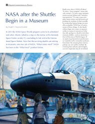 NASA after the Shuttle: Begin in a Museum - Sigma Pi Sigma