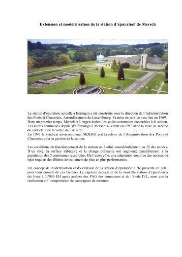 Article Chantier Step Beringen/Mersch (Version française) - SIDERO