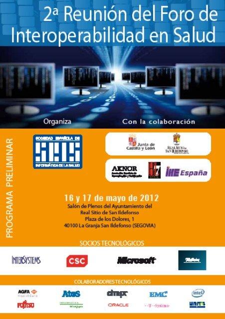 Programa - Sociedad Española de Informática de la Salud
