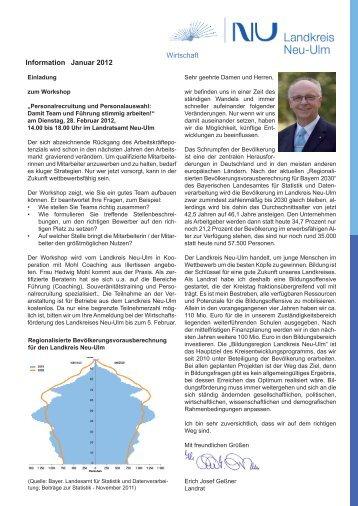Wirtschafts-Informationen Januar 2012 - Landkreis Neu-Ulm