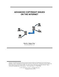 Advanced Copyright Issues on the Internet - Fenwick & West LLP