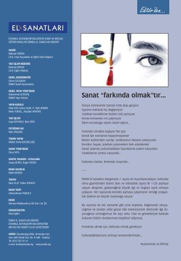 el sanatlar dergisi(7) MATBAA.indd - İSMEK - İstanbul Büyükşehir ...