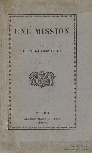 Une mission - Manioc