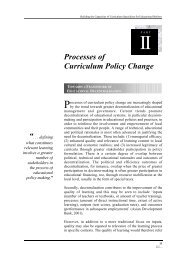 Processes of Curriculum Policy Change