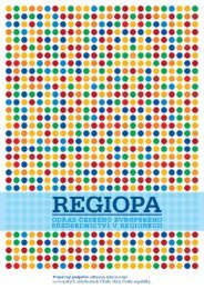 Regiopa - odraz českého evropského předsednictví v ... - Euroskop.cz