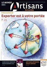 N°77 juillet 2010 - Chambre de métiers et de l'artisanat