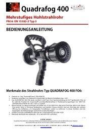 Bedienungsanleitung QF400 Hohlstrahlrohr - Leader GmbH
