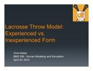 Lacrosse Throw Model: Experienced vs. Inexperienced Form