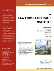 Law Firm Leadership Institute - Great Place to Work Institute