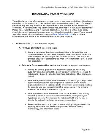 research prospectus This is a handout i often give to students when i expect them to provide a research proposal for a  not a prospectus for a masters or  research proposal (example.