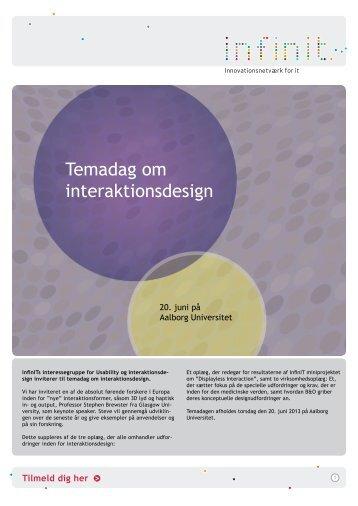 Temadag om interaktionsdesign - InfinIT