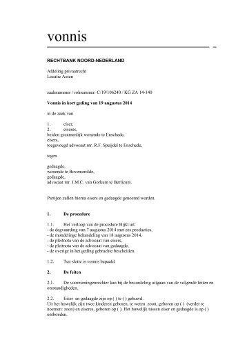 2014-08-19 Vonnis KG - Gemeenteverbod Enschede
