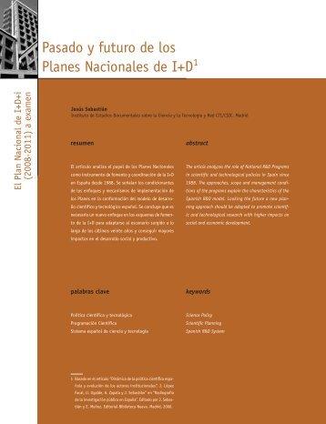 Pasado y futuro de los Planes Nacionales de I+D - CSIC