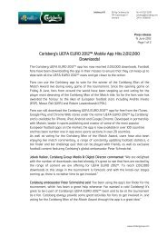 Carlsberg's UEFA EURO 2012™ Mobile App Hits ... - Carlsberg Group