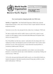 Press release - WHO Western Pacific Region - World Health ...