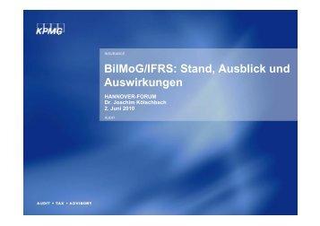 BilMoG/IFRS: Stand, Ausblick und Auswirkungen