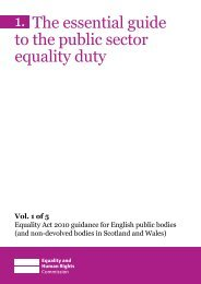 Essential Guide to the public sector equality Duty