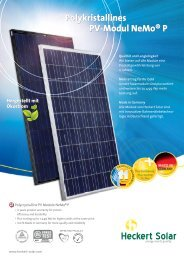 Polykristallines PV-Modul NeMo® P - Heckert Solar