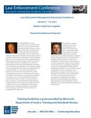 Law Enforcement Conference - Wisconsin Indianhead Technical ...