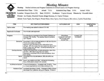 Meeting Minutes - Hospice of the Western Reserve